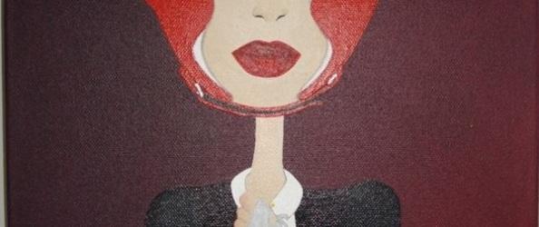 """Foto de la pintura acrílica de Salonoet """"Solo una vez el amor me partió el labio"""""""